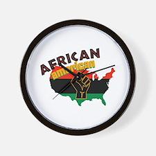 African American Wall Clock