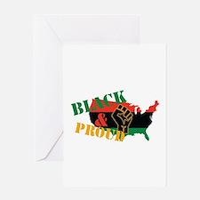 Black & Proud Greeting Cards