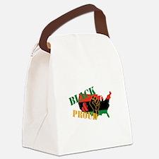 Black & Proud Canvas Lunch Bag