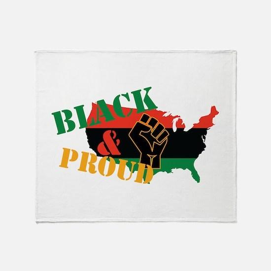 Black & Proud Throw Blanket