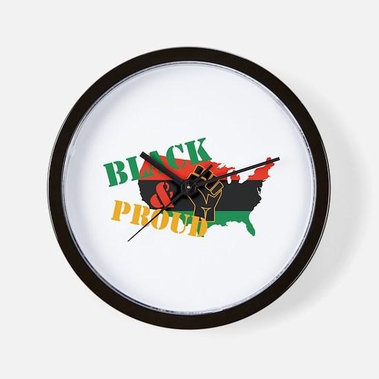 Black & Proud Wall Clock
