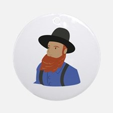 Amish Man Round Ornament