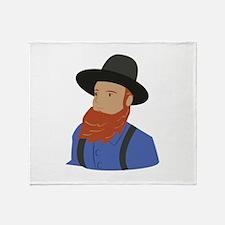Amish Man Throw Blanket