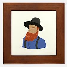 Amish Man Framed Tile