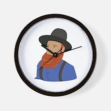 Amish Man Wall Clock