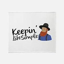 Keepin Life Simple Throw Blanket