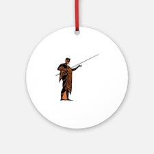 Greek Warrior Round Ornament