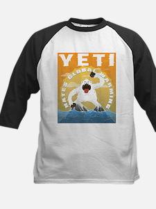 Yeti hates global warming Baseball Jersey