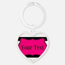 Personalizable Pink Black Striped Keychains