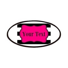 Personalizable Pink Black Striped Patch