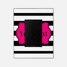 Personalizable Pink Black Striped Picture Frame