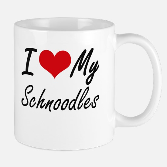 I Love My Schnoodles Mugs