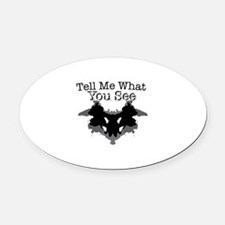 What You See Oval Car Magnet
