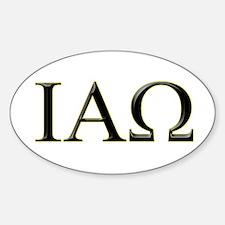 IAO Oval Decal