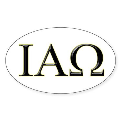 IAO Oval Sticker