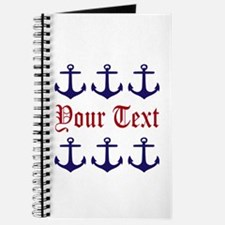 Personalizable Red and Navy Anchors Journal