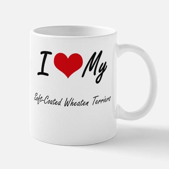 I Love My Soft-Coated Wheaten Terriers Mugs