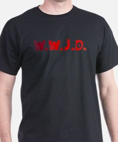 Red Hippie WWJD T-Shirt