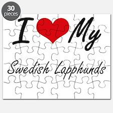 I Love My Swedish Lapphunds Puzzle