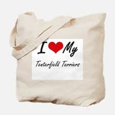I Love My Tenterfield Terriers Tote Bag