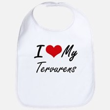 I Love My Tervurens Bib