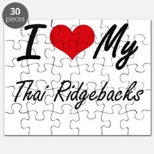 I Love My Thai Ridgebacks Puzzle