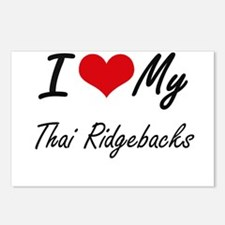 I Love My Thai Ridgebacks Postcards (Package of 8)