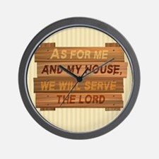 Serve the Lord Wall Clock