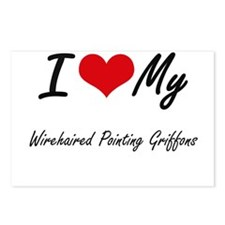 I Love My Wirehaired Poin Postcards (Package of 8)
