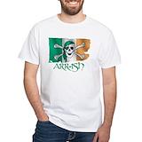 Irish pirate Mens White T-shirts