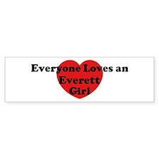 Everett girl Bumper Bumper Sticker