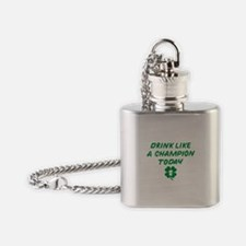 Drink Like A Champion Flask Necklace