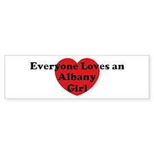 Albany girl Bumper Bumper Sticker