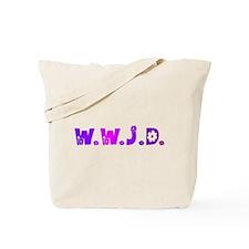 Purple Hippie WWJD Tote Bag
