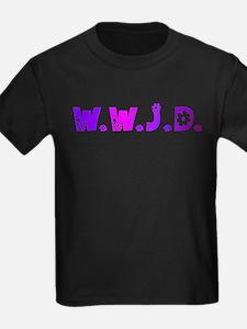 Purple Hippie WWJD T