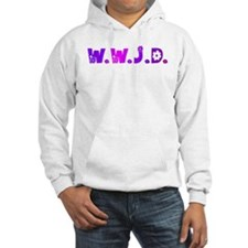Purple Hippie WWJD Hoodie