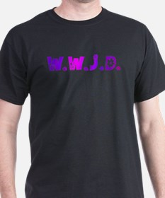 Purple Hippie WWJD T-Shirt