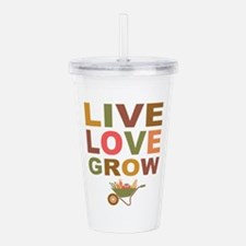 Live Love Grow Acrylic Double-wall Tumbler