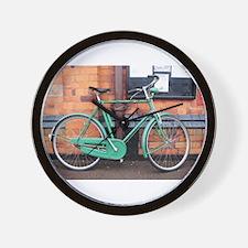 Green Bicycle Vintage Wall Clock