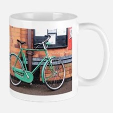 Green Bicycle Vintage Mugs