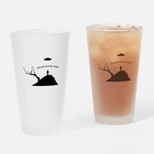 Abduction Drinking Glass