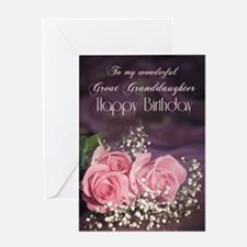 For great granddaughter, Happy birthday with roses