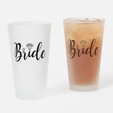 Chic Typography - Bride Drinking Glass