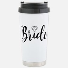 Chic Typography - Bride Stainless Steel Travel Mug