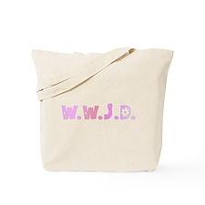 Pink Hippie WWJD Tote Bag