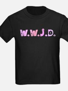 Pink Hippie WWJD T