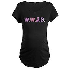 Pink Hippie WWJD T-Shirt