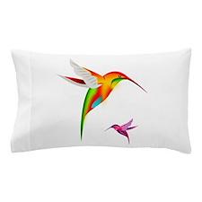 Colorful Hummingbirds Birds Pillow Case