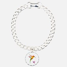 Colorful Hummingbirds Bi Bracelet