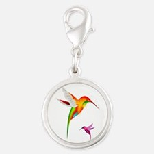 Colorful Hummingbirds Birds Charms